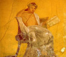 Pompeii travel - Pompeii: fresco of the famous poet Menander