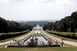 The Royal Palace of Caserta with its fountains