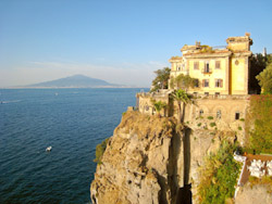 Villa Niccolini at Sant'Agnello and Vesuvius in the background