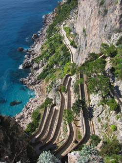 Capri Tours - The ancient Via Krupp in Capri