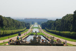 Caserta Palace - Panoramic view of the Royal Palace of Caserta and his park