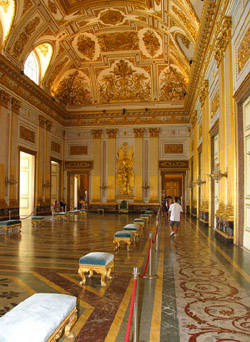 Caserta Palace - The throne room of the Royal Palace of Caserta