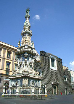 Churches of Naples Italy - Piazza del Gesù square at Naples