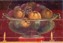Pompeii travel - Oplontis: fresco of a basket of figs