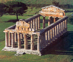 Paestum Temples - View of the Temple of Ceres